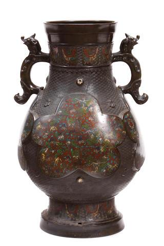 A Chinese cloisonné vase