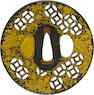 An iron sukashi Kenjo tsuba Edo period (17th century)