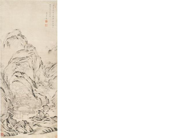 Shang Rui (1634-circa 1724), Landscape after Tang Yin, 1703
