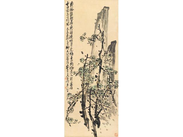 Wu Changshuo, (1844-1927) Plum and Rock, 1919