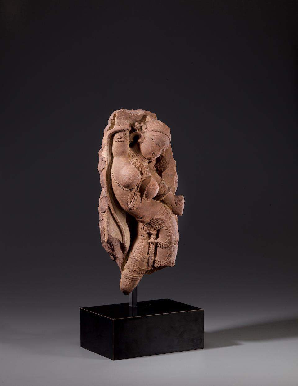 A red sandstone celestial woman (Surasundari) Rajasthan or Central India, circa 11th century