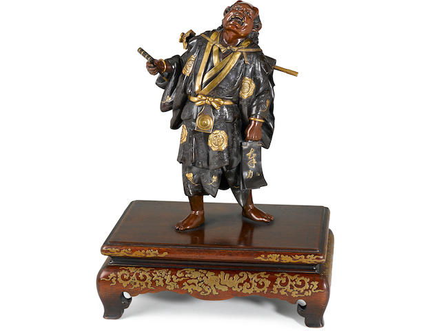 A Miyao bronze figure of an oni By the Miyao workshop, Meiji period (late 19th century)