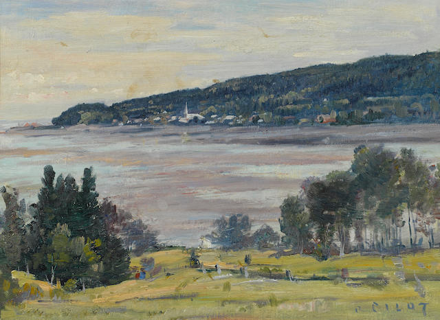 Robert Wakeham Pilot (Canadian, 1898-1967) Jacamie, At Very Low Tide 12 1/2 x 16 3/4in