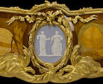 An important François Linke Louis XV style gilt bronze mounted marquetry bibliothequelate 19th century