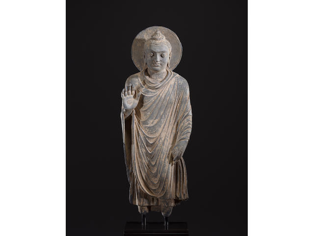 A schist figure of Buddha Ancient region of Gandhara, 3rd/4th century