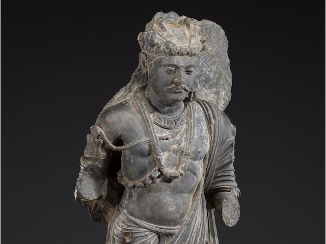 A schist figure of the Bodhisattva Shakyamuni Ancient region of Gandhara, 3rd/4th century