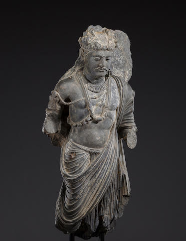 A schist figure of the Bodhisattva Shakyamuni Ancient region of Gandhara, 3rd/4th century