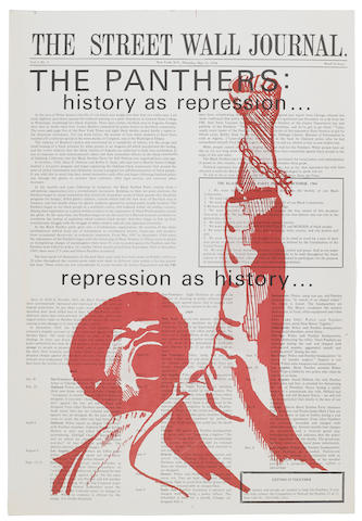 BLACK PANTHERS. The Street Wall Journal. The Panthers: history as repression ... repression as history....  New York: Committee to Defend the Panther, May 21, 1970. Vol 1, no 3.