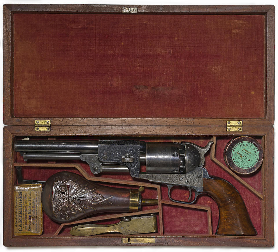 A cased and factory engraved Colt 3rd Model Dragoon percussion revolver