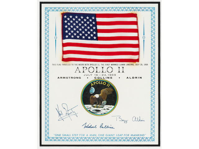 UNITED STATES FLAG CARRIED BY BUZZ ALDRIN ON APOLLO 11.
