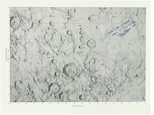 FIRST LUNAR LANDING CHART - SIGNED.