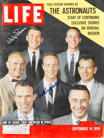 LIFE INTRODUCES THE ASTRONAUTS—SIGNED. LIFE Magazine. New York: Time-Life, September 14, 1959.