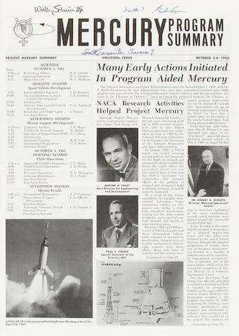 FINAL MERCURY CONFERENCE PROGRAM—SIGNED. Mercury Program Summary.