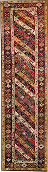 A Caucasian runner  Caucasus size approximately 3ft. 9in. x 13ft. 4in.