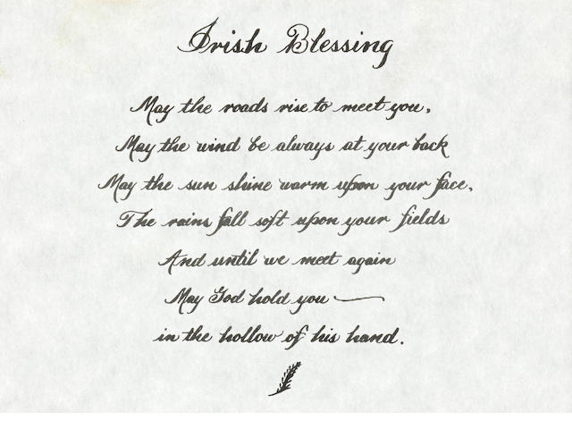 IRISH BLESSING CARRIED ON APOLLO 15 BY JAMES IRWIN.