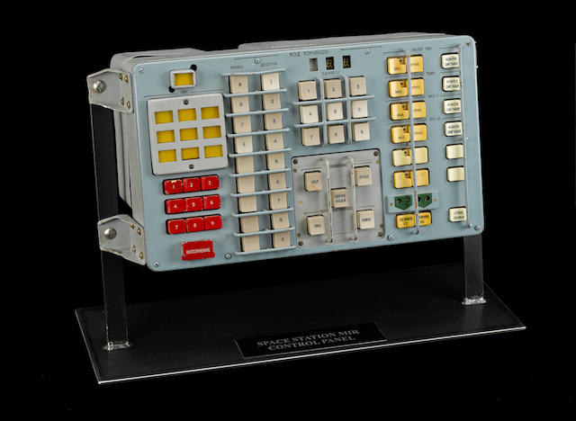 MIR SPACE STATION CONTROL PANEL. A KEY PIECE OF HARDWARE FROM THE MIR SPACE STATION.