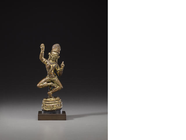 A gilt copper figure of Vajrapani Nepal, circa 10th century