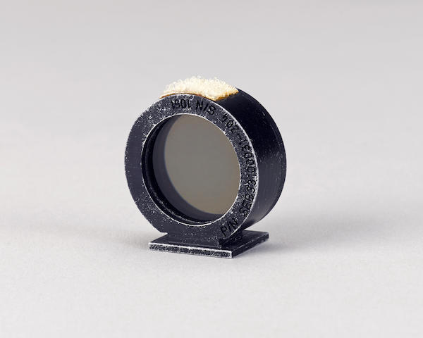 MOTION PICTURE RING SIGHT USED ON THE MOON DURING APOLLO 15.  PERHAPS THE ONLY LUNAR SURFACE RING SIGHT STILL IN PRIVATE HANDS.