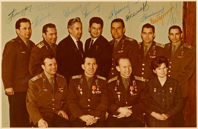 SIGNED BY 10 SOVIET COSMONAUTS.