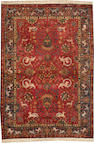 An Indian rug  India size approximately 4ft. 3in. x 6ft. 2in.