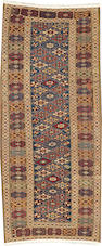 A Shirvan rug  Caucasus size approximately 3ft. 5in. x 7ft. 10in.