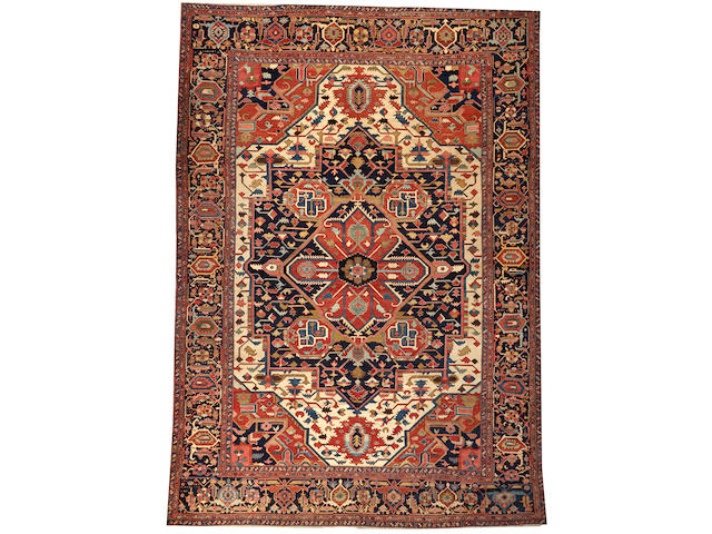 A Serapi carpet  Northwest Persia size approximately 12ft. 8in. x 18ft.