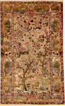 A Silk Souf Kashan rug Central Persia size approximately 3ft. x 5ft.