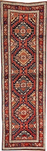 A Karabagh runner  Caucasus size approximately 3ft. 3in. x 10ft. 6in.