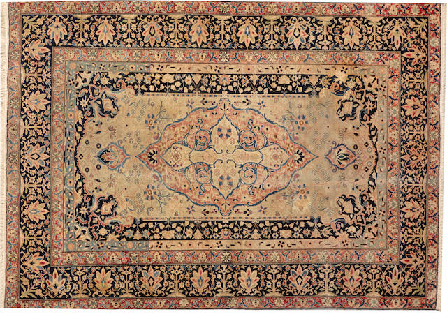 A Mohtasham Kashan rug  Central Persia size approximately 4ft. 3in. x 6ft.