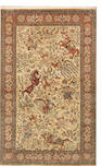 A Qum silk rug  Central Persia size approximately 4ft. 6in. x 7ft. 3in.