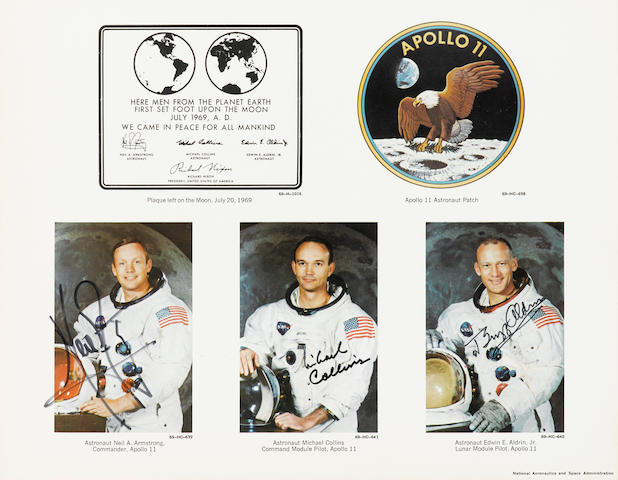 APOLLO 11. SIGNED BY THE CREW.