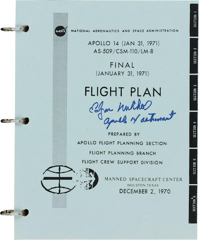 APOLLO 14- FINAL FLIGHT PLAN.  Apollo 14 (Jan 31, 1971) AS-509/CSM-110/LM-8 Final Flight Plan.  Houston, TX: NASA/MSC, December 2, 1970.