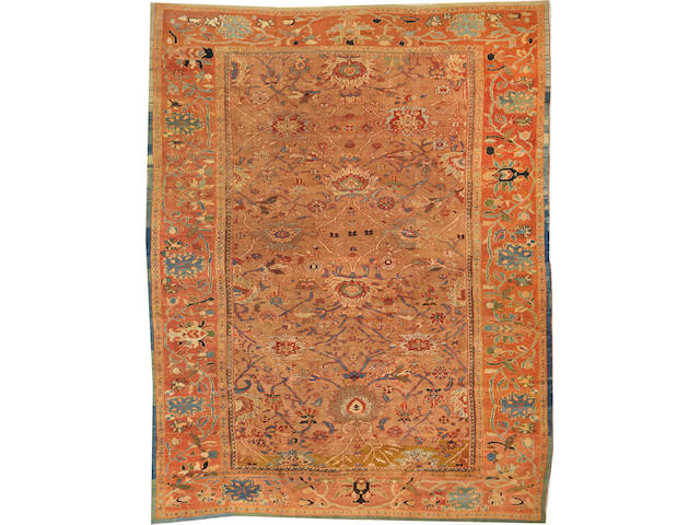 A Sultanabad carpet  Central Persia size approximately