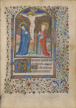HORAE. Illuminated manuscript on vellum, Book of Hours in Latin, Use of Paris [Paris, first quarter of the fifteenth century].