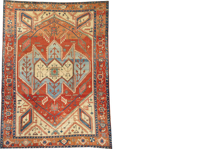 A Serapi carpet  Northwest Persia size approximately 11ft. 2in. x 15ft. 1in.