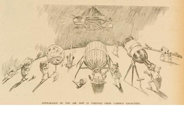 UFO INCIDENT. The Daily Democrat. Freeport, IL: April 12 & 13, 1897.