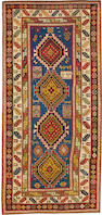A Kazak rug    Caucasus size approximately 4ft. 6in. x 9ft. 5in.