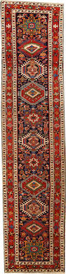 A Karadja runner  Northwest Persia size approximately 3ft. 3in. x 14ft. 2in.