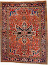 A Heriz rug  Northwest Persia size approximately 5ft. 2in. x 6ft. 3in.