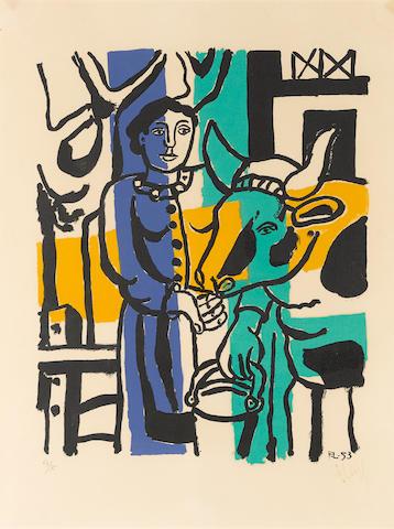 Fernand Léger (1881-1955); La Vachère;