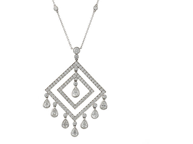 A diamond pendant/necklace, Tiffany & Co.