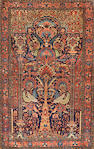 A Fereghan Sarouk rug Central Persia size approximately 4ft. 5in. x 6ft. 10in.
