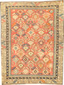 A Shirvan rug Caucasus  size approximately 3ft. 5in. x 4ft. 6in.