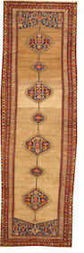 A Malayer runner  Central Persia size approximately 4ft. 8in. x 14ft. 7in.