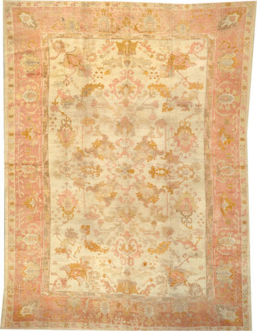 An Oushak carpet  West Anatolia size approximately 12ft. 8in. x 17ft. 2in.