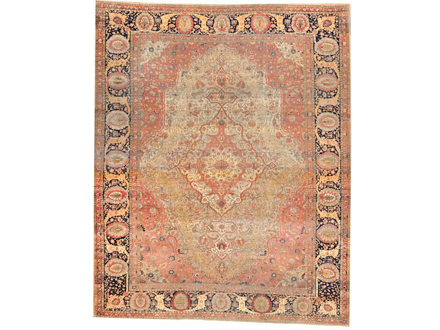 A Mohtasham Kashan carpet  Central Persia size approximately 10ft. x 13ft.
