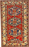 A Cloudband Kazak rug Caucasus size approximately 4ft. 6in. x 7ft. 6in.