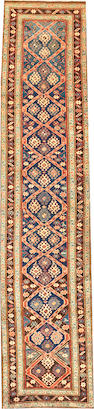 A Northwest Persian runner  Northwest Persia size approximately 3ft. 3in. x 14ft. 1in.