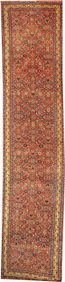 A Bidjar runner Northwest Persia size approximately 3ft. 11in. x 17ft. 4in.