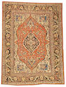 A Hadji Jalili Tabriz rug  Northwest Persia size approximately 4ft. 6in. x 5ft. 11in.
